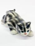 Скульптура «Кот ползучий» цвет полосатый авт. Ю.М.Мухин