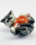 Скульптура «Кот с клубком» цвет авт. Ю.М.Мухин