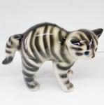 Скульптура «Кот дугой» цвет полосатый авт. Ю.М.Мухин
