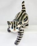 Скульптура «Кот на полку» цвет полосатый авт. Ю.М.Мухин