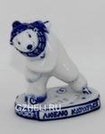 Скульптура «Медведь-конькобежец» авт. Е. Сухорукова