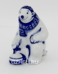 Скульптура «Медведь-кёрлингист» авт. Е. Сухорукова