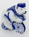 Скульптура «Медведь-велосипедист» авт. Е. Сухорукова