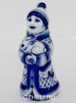 Скульптура «Снегурочка с зайцем» авт. Е. Сухорукова