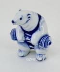Скульптура «Медведь-штангист» авт. Е. Сухорукова