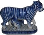 Скульптура «Тигр с тигренком» авт. А. Ларин
