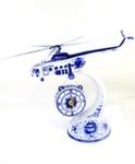 Скульптура «Вертолёт МИ - 8 с часами» воздух авт. А. Ларин