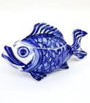 Скульптура «Рыбка» шкатулка-икорница авт. С. Мамонтов