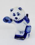 Скульптура «Белый мишка - хоккеист» авт. В. Растяпин