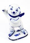 Скульптура «Белый мишка -конькобежец» авт. Т. Федоровская